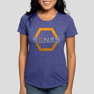 Bones Logo Dark Womens Tri-blend T-Shirt