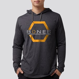 Bones Logo Dark Mens Hooded Shirt