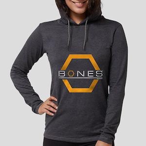 Bones Logo Dark Womens Hooded Shirt