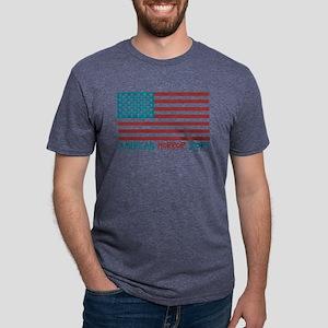 American Horror Story Flag  Mens Tri-blend T-Shirt