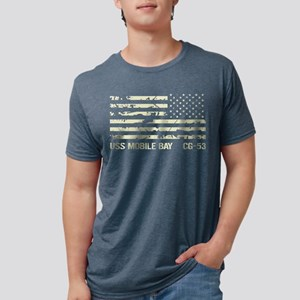 USS Mobile Bay Mens Tri-blend T-Shirt