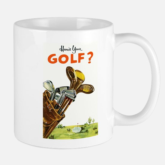 Golf Bag, Retro, Vintage Poster Mug
