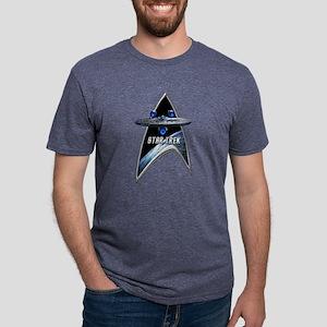 StarTrek Command Silver Sig Mens Tri-blend T-Shirt