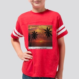 Sunset Om to go Home Youth Football Shirt