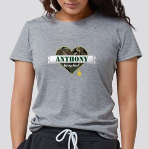 Army Personalized Heart Womens Tri-blend T-Shirt