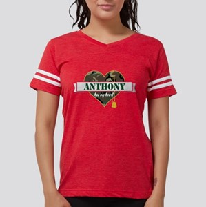 Army Personalized Heart Womens Football Shirt