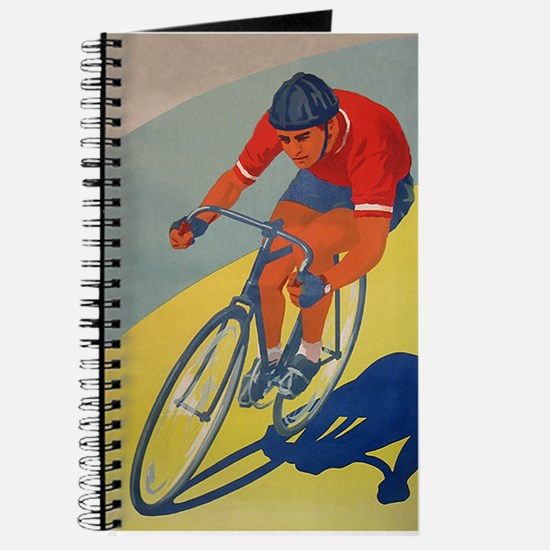 Cycling, Bicycle, Racer, Vintage Poster Journal