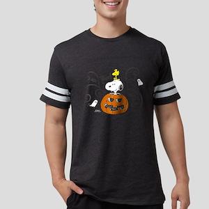 Peanuts Snooky Sketch Pumpkin  Mens Football Shirt