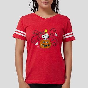 Peanuts Snooky Sketch Pumpki Womens Football Shirt