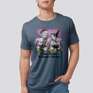Double Trouble Personalized Mens Tri-blend T-Shirt