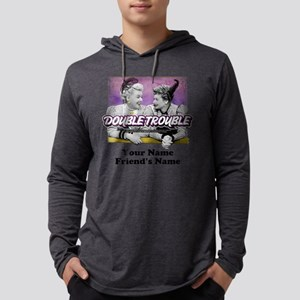 Double Trouble Personalized Mens Hooded Shirt