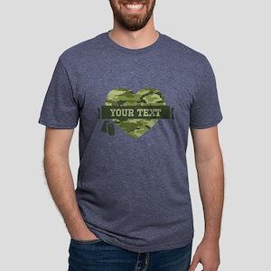 PD Army Camo Heart Mens Tri-blend T-Shirt