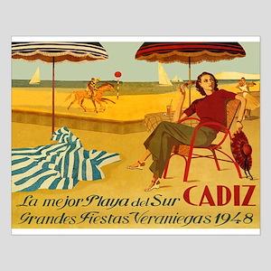 Cadiz, Spain, Travel, Vintage Poster Posters