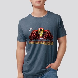 Iron Man Fists Mens Tri-blend T-Shirt