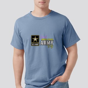Proud US Army Wife Logo Mens Comfort Colors Shirt