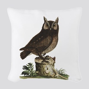 A Little Owl Woven Throw Pillow