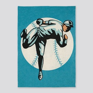 Baseball, Player, Vintage Poster 5'x7'Area Rug