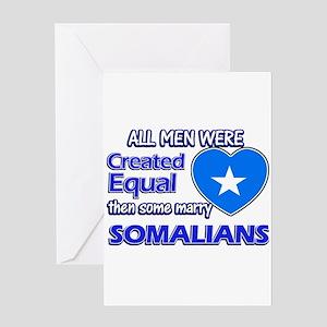 Somalian wife designs Greeting Card