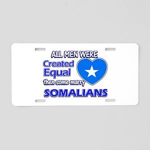 Somalian wife designs Aluminum License Plate