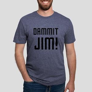 Dammit Jim Mens Tri-blend T-Shirt