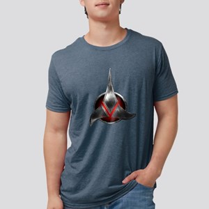 Star Trek  KLINGON Metal Lo Mens Tri-blend T-Shirt