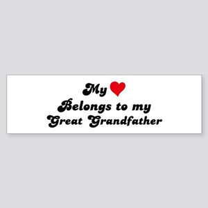 My Heart: Great Grandfather Bumper Sticker