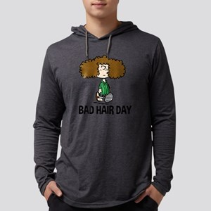 Peppermint Patty Bad Hair Day Mens Hooded Shirt