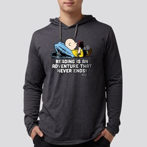 Charlie Brown - Reading is an Ad Mens Hooded Shirt