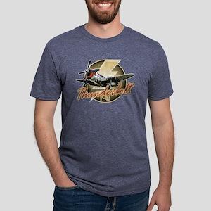 P-47-Thunderbolt Mens Tri-blend T-Shirt
