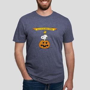 Peanuts Believe in the Grea Mens Tri-blend T-Shirt