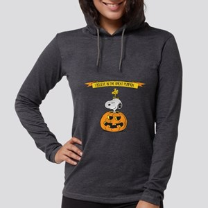 Peanuts Believe in the Great P Womens Hooded Shirt