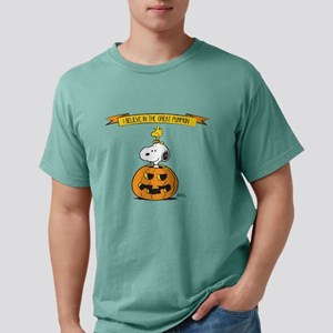 Peanuts Believe in the G Mens Comfort Colors Shirt