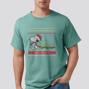 Snoopy Ugly Christmas Gr Mens Comfort Colors Shirt
