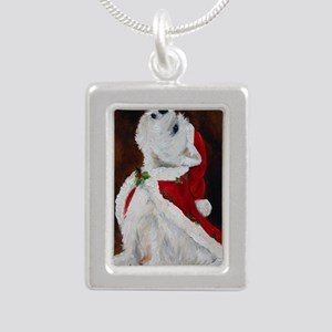 Joy to the World Silver Portrait Necklace