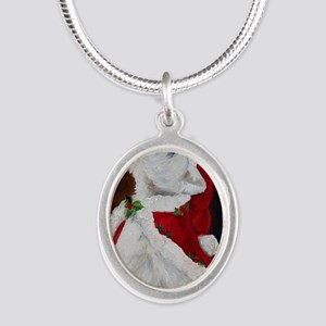 Joy to the World Silver Oval Necklace
