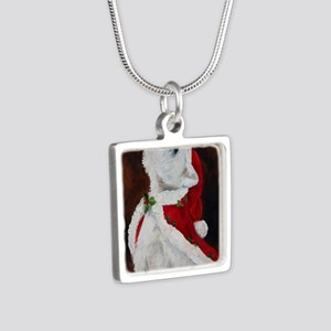 Joy to the World Silver Square Necklace