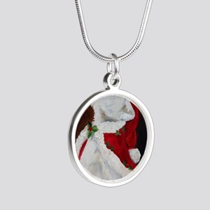 Joy to the World Silver Round Necklace