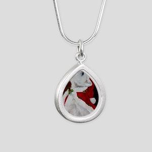 Joy to the World Silver Teardrop Necklace