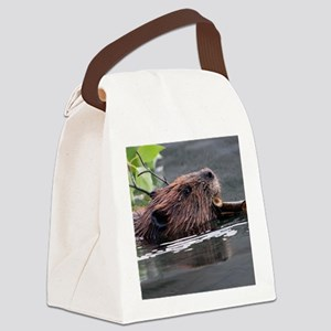 beaver Canvas Lunch Bag