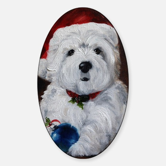 Have Yourself a Merry Little Christ Sticker (Oval)