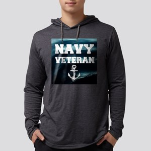 Navy Veteran Mens Hooded Shirt