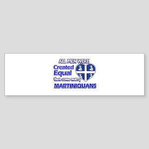 Martiniquans wife designs Sticker (Bumper)
