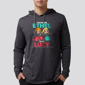 Ethel to my Lucy Dark Mens Hooded Shirt