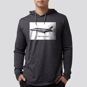 F-100C Super Sabre-1500 Mens Hooded Shirt