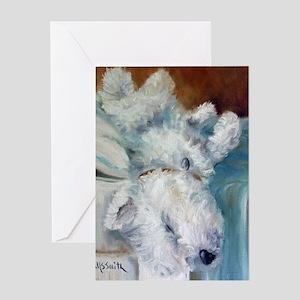 Bed Hog Greeting Card
