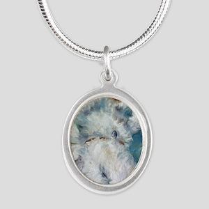 Bed Hog Silver Oval Necklace