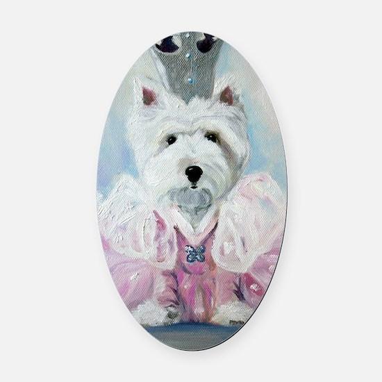 Glenda the Good Pup Oval Car Magnet