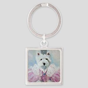 Glenda the Good Pup Square Keychain