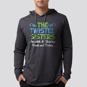 twistedsisterswhite Mens Hooded Shirt