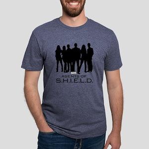 Agents of S.H.I.E.L.D. Silh Mens Tri-blend T-Shirt